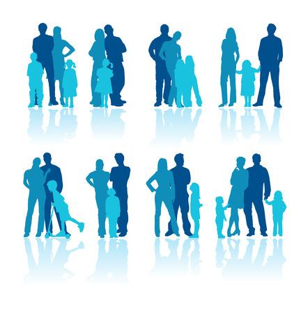 meisje silhouet: familie