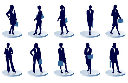 estuche: mujer de negocios