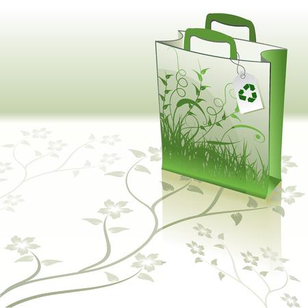 beautiful green bag Vector