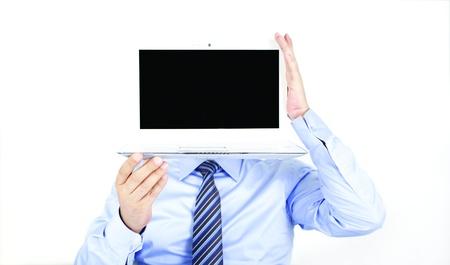 Computer headed man