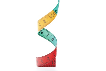 mm: Spiral shared tape measure Stock Photo