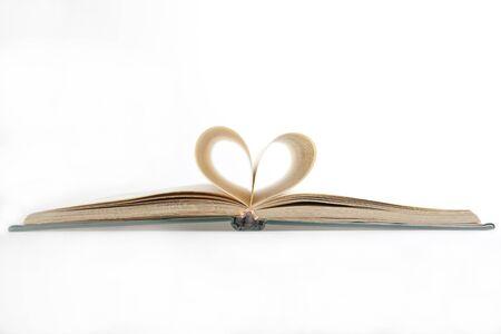 Heart shaped book Stock Photo