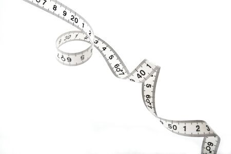tailor measuring tape: Spiral shared white tape measure