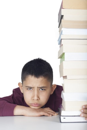 Collage student with books
