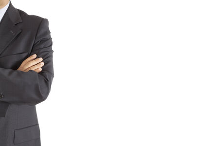 Businessman in suit on isolated background