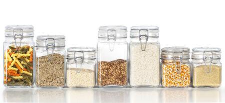 Legumes jars Stock Photo