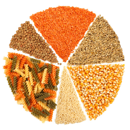 pasta isolated: Slices of legumes