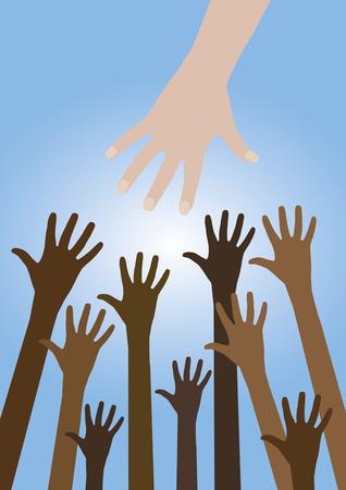 Helping hand Stock Vector - 29836034