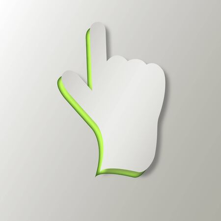 paper cut out: Hand cursor Illustration