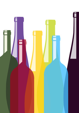 Colorful bottles Vector