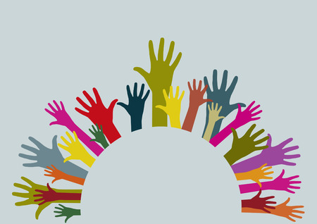 congregation: Circular hands