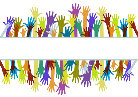 congregation: Colorful hands