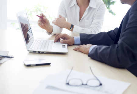 Working man and woman in the office Stock Photo