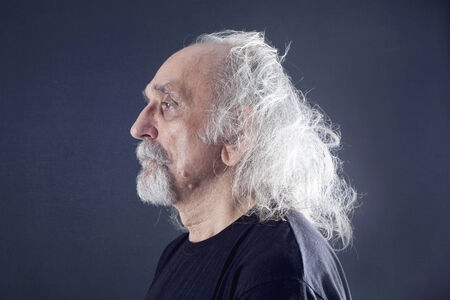 profiles: Portrait of a senior man Stock Photo
