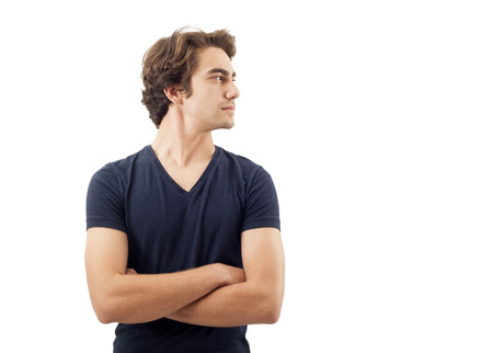 man profile: Portrait of handsome man Stock Photo