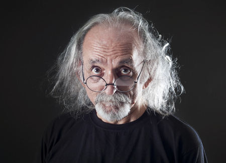 old black man: Portrait of senior man