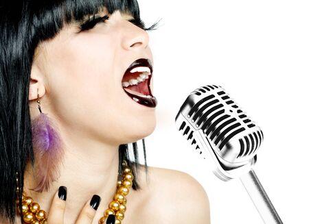 jazz singer: Singer woman