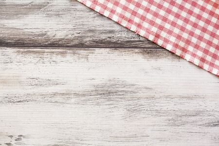 tablecloth: Napkin on wooden table