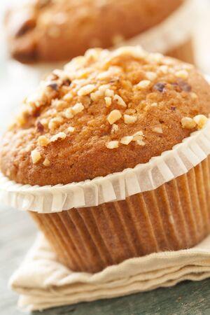 magdalenas: Pasteles Muffin close up Foto de archivo