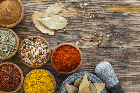 asian bowl: Assorted spices in bowl