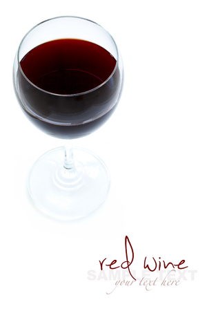 glass of red wine: Glass of red wine
