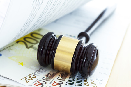 auction: Gavel and euro