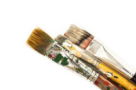 oil paint: Oil paint brushes Stock Photo