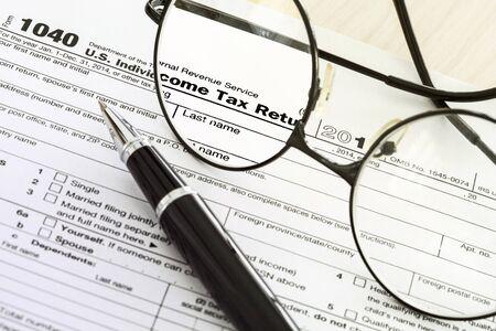 Tax form 写真素材