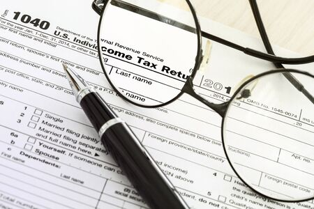 tax law: Tax form Stock Photo