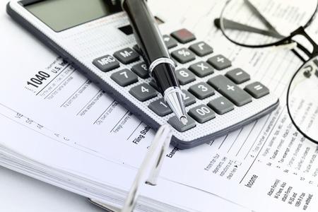 Tax form Standard-Bild