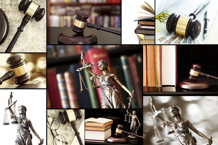 lady justice: Ley collage