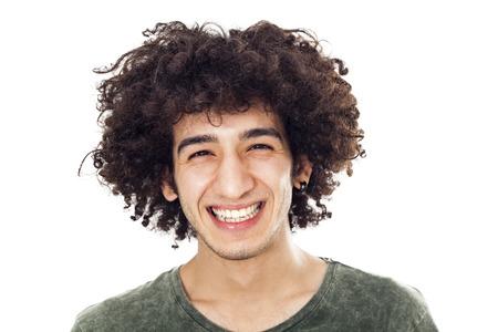 retrato: Retrato de hombre joven y sonriente Foto de archivo