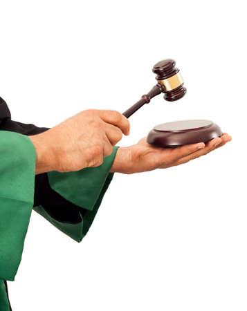 knocking: Judge hand knocking gavel