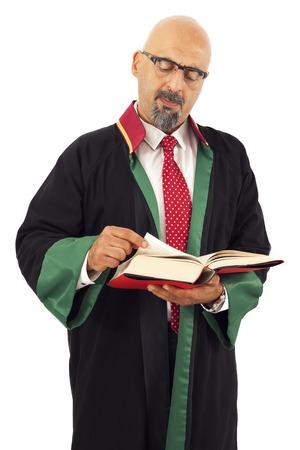 judge: Judge reading book Stock Photo