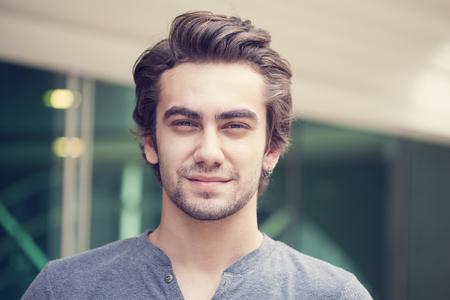 Portret van jonge man Stockfoto