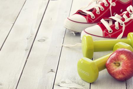 apfel: Fitness-Konzept Lizenzfreie Bilder