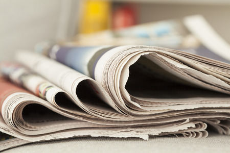 daily newspaper: Stack of newspapers Stock Photo