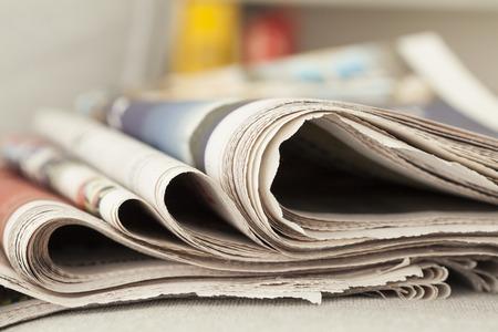 Stack of newspapers Standard-Bild