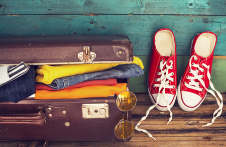 Holiday suitcase 스톡 콘텐츠
