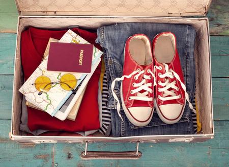 Holiday suitcase Archivio Fotografico