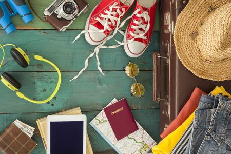 Holiday suitcase Standard-Bild
