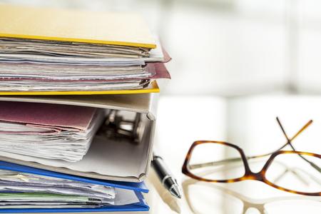 stack of papers: Business table