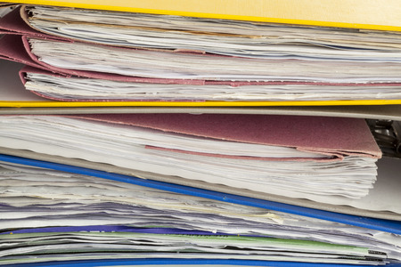 dossier: Files and document close up Stock Photo