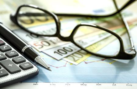calculadora: Carta de asunto y anteojos