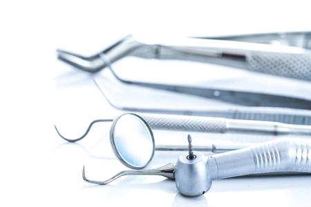 dental examination: Dentist medical tools