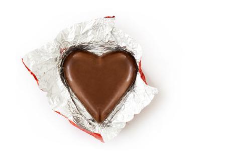 Heart chocolate on white Archivio Fotografico