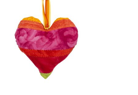 hearts background: Love hearts on white background