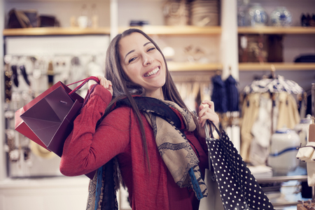 buyer: Young woman shopping