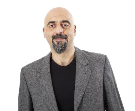 Portrait of man on white background Standard-Bild