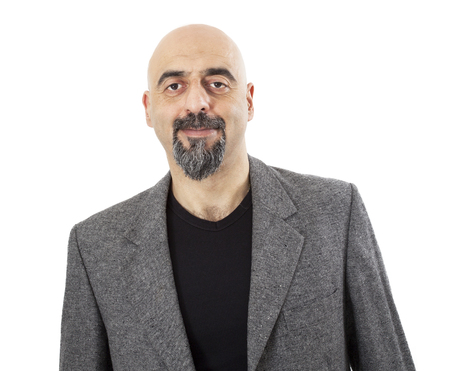 Portret van man op witte achtergrond